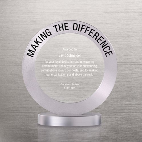 Making the Difference Radiant Ring Trophy